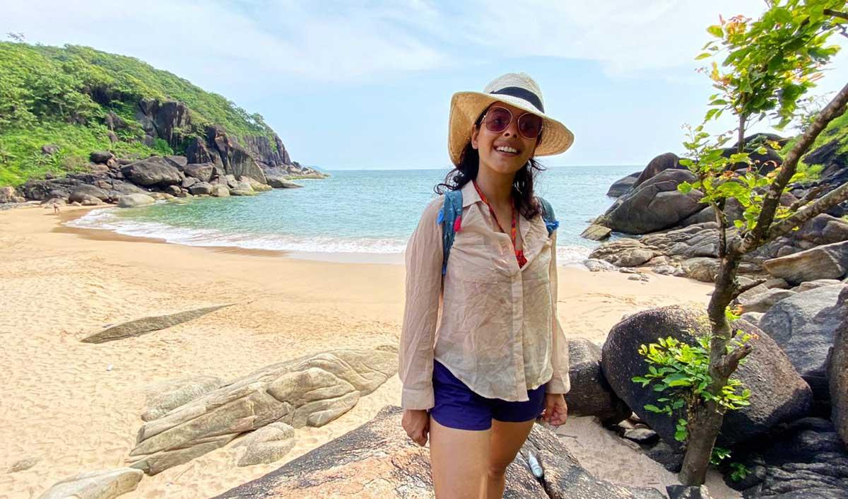 Anisha Victor in Goa Pic 1