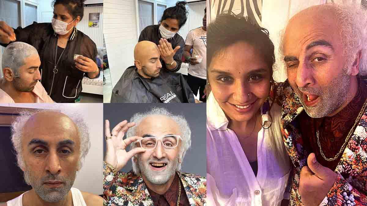 Preetisheel Singh with Ranbir Kapoor Collage 1